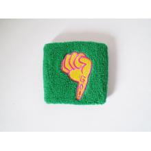 Custom Promotional Cotton Sport Wristband Wrist Sweatband with Embroidery Logo