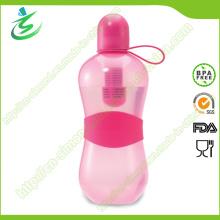 550ml PE Neon Color Bobble Filter Garrafa para vida verde