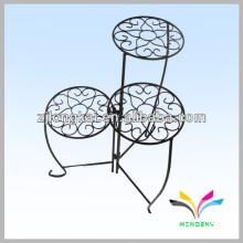 Decorative garden 3 tier metal flower pot stand for garden supply