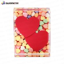 Manufacturer supply Fashion sublimation crystal love photo frame for wedding gift