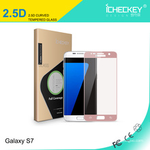Protector de cristal moderado colorido de la pantalla del guardia del teléfono móvil para la galaxia s7