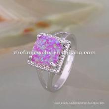 joyería de moda 2018 letest anillo de cristalería opal cena conjunto anillo de plata de ley 925