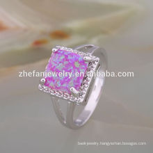 fashion jewelry 2018 letest ring opal glassware dinner set ring 925 sterling silver