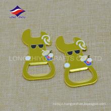 Round keyring metal material keychains custom bottle opener