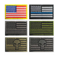 USA Taktis Bendera Bordir Patch Dengan Velcro