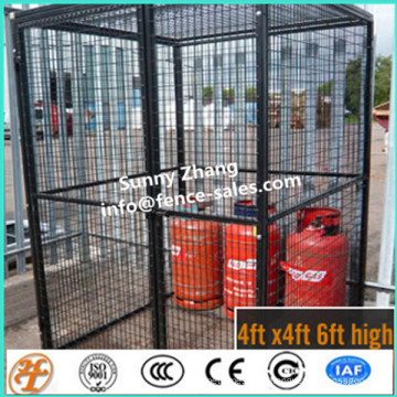 jaula galvanizada de alta calidad de la malla de alambre del almacenamiento de la botella de gas