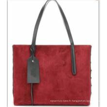 Sac de matériau double couleur dans le sac (WZX21535)