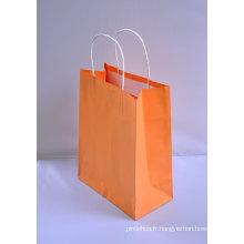 Sac cadeau en papier Kraft avec manette torsadée ou poignée plate