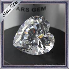 Forma de corazón piedras preciosas sintéticas cúbicos zirconia CZ piedra