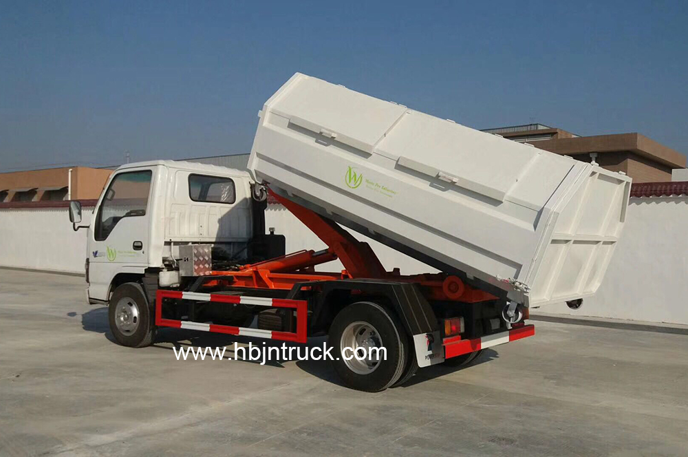Isuzu roll off truck
