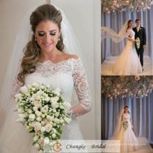 Robe de mariée élégante en dentelle Robe de mariée Appliquée en dentelle transparente sur mesure