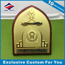High Quality Gold Wood Shield Plaque