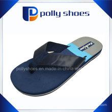Hot EVA Logo Strap White Wedge Blue Indoor Slipper, EVA Bathroom Slipper