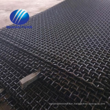 crimped quarry mesh carbon steel crusher screen with hook vibrating screen mesh