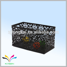 Household Office Black Metal Storage Basket for Desk/School Supplies