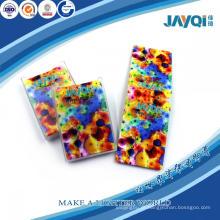 Limpador de esponja de microfibra impresso colorido