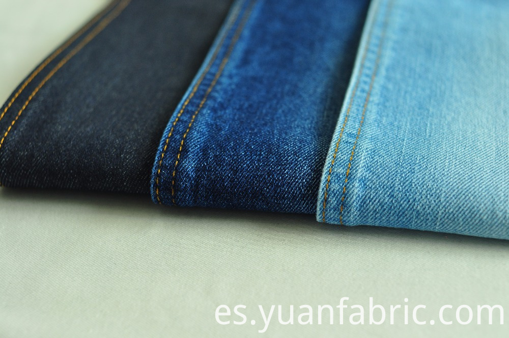 95100 Cotton Warp Slub Denim Fabric