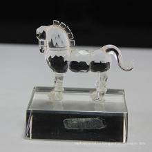 Горячая распродажа хрустальное стекло лошадь статуэтки