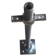Flat Galvanized Adjustable Jack Scaffolding Base for Construction