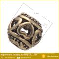 Hohle Design großes Loch europäischen Zink-Legierung Perlen für Armbänder und Halskette