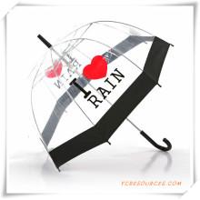 Paraguas recto transparente negro del borde para la promoción (OS11005)