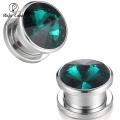 Wholesale Free Sample 20mm Screw Thread Ear Gauge,Zirconia Flesh Tunnel Plug, Custom Eyelet Piercing Jewelry