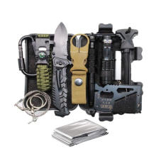 Camping Emergency 12 in 1 Survival Gear Kit,Cool Unique Gifts for  Men Husband Dad Boyfriend, Fun Gadget Mens Gifts Ideas