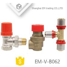 Válvula de segurança EM-V-B062 punho vermelho tipo de ângulo para aquecedor elétrico de água