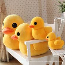 Großhandel gefüllte Tiere Plüschtiere Baby gelb Plüsch Ente Spielzeug