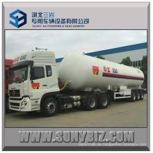 56m3 23.52t Tri-Achsen LPG Tankauflieger mit Traktor