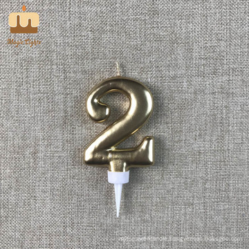 Big Number 2 Birthday Candle Cake Toppers for Men