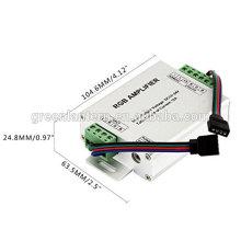 Controlador do amplificador do diodo emissor de luz RGB do repetidor do sinal dos dados de 3 canais para a tira do diodo emissor de luz de 3528/5050 SMD RGB