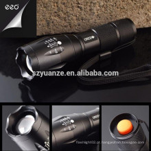 Alta potência Melhor Polícia Q5 recarregável Zoomable levou tocha lanterna