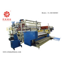 Máquina para fabricação de filme estirável de co-extrusão
