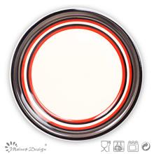 Handpainted Round Stoneware Dinner Plate