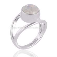 Natural Rainbow Moonstone Gemstone 925 Sterling Silver Ring Jewelry Wholesale