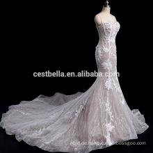 Kostüm-made Sweetheart Ausschnitt Meerjungfrau neuesten Hochzeitskleid Designs