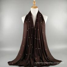Wholesale fashion quality factory price women shawl scarf muslim jersey pearl hijab