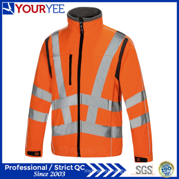 Affordable Waterproof Hi Viz Workwear Soft Shell Fleece Jacket (YFG113)