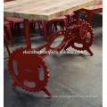 Промышленные Провернуть Обеденный Стол Красного Цвета