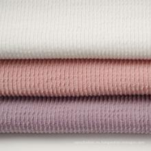 Tejido de punto Jacquard doble de poliéster y algodón (30S * 2)