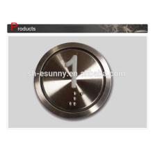 Commutateur de bouton poussoir ascenseur métal usine populaire 19mm