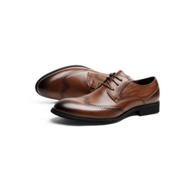Wing tip men shoes