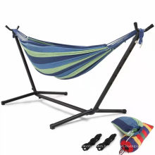 Wholesale Outdoor Camping Canvas Stripe Hammock Indoor Leisure Hammock