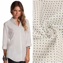 128x64 115gsm algodão estiramento poplin menina longa camisa tecido mulheres lounge camisa tecido algodão mulheres negócio camisa design de tecido