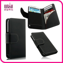 Durable Magnetic Flip 3D Bling Handmade 5.5 Inch Leather Phone Wallet Case for iPhone 5
