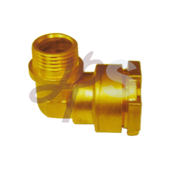 Brass Pe Ppr Elbow Compression Coupling H833