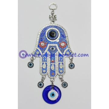 Blue Hamsa Evil Eye Charm Amulet Hanging car Wall Decoration for Protection