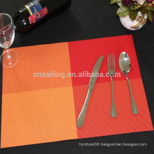 hot sale red-orange matts placemat with pvc pads