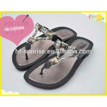 Alta qualidade diament chinelo sapatos design, pvc ar sopro chinelo, pvc sapatos planos,